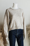 JOELE LIGHT CROP SWEATER IN OATMEAL