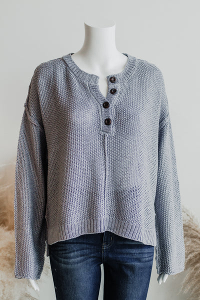 YACHT CLUB LIGHT SWEATER IN GREY