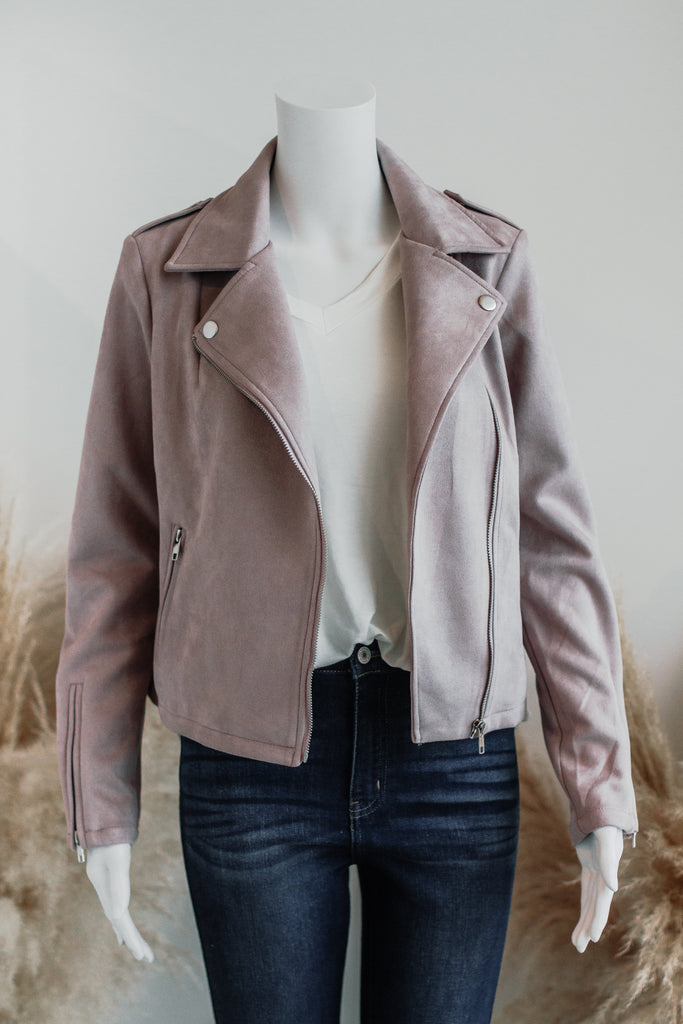 MY FAVORITE SUEDE JACKET IN LILAC