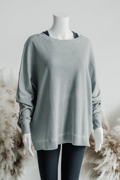 COVER ME PULLOVER IN LIGHT GREY