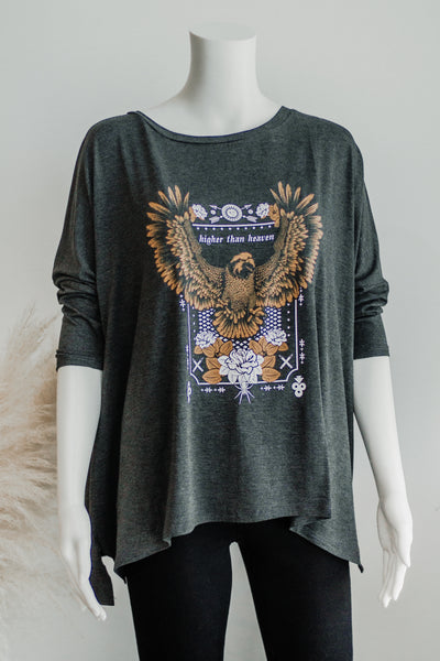HIGHER THAN HEAVEN EAGLE GRAPHIC TOP