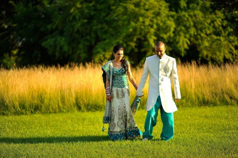 Grooms Sherwani Custom Made to Match Brides Lehenga Choli