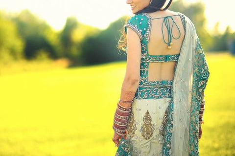 Brides beautiful Reception Lehenga (back)