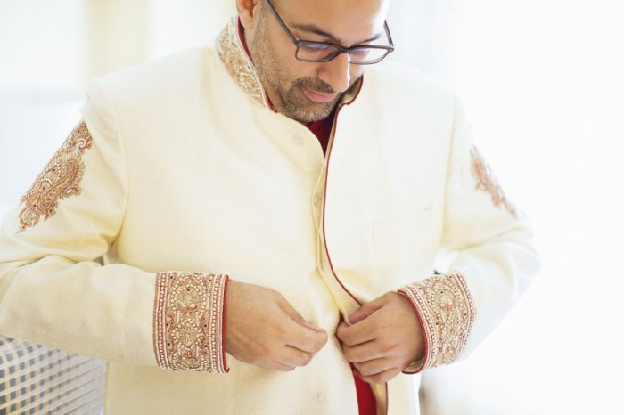Custom made Grooms wedding Sherwani.