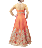 ORANGE AND CREAM GOWN