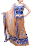 ROYAL BLUE AND GOLD BRIDAL LEHENGA