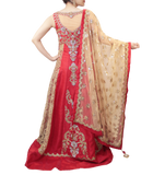 RED BRIDAL LACHA STYLE