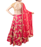 PINK AND GOLD BRIDAL LEHENGA