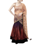 PURPLE SHADED LEHENGA SAREE