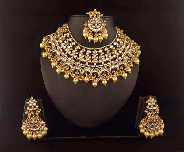 Gold Pearl Choker Set ( Padmavati Collection )