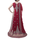 MAROON AND PINK PAKISTANI BRIDAL LEHENGA