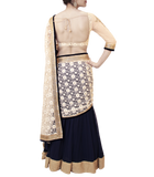 NAVY BLUE LEHENGA SAREE