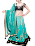 TURQUOISE SHADED BRIDAL LEHENGA