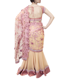 GOLD AND LAVENDER LEHENGA SAREE