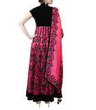 BLACK AND PINK HEAVY ANARKALI