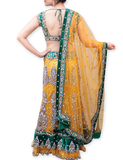 YELLOW AND GREEN BRIDAL LEHENGA