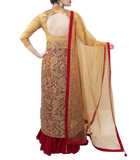 GOLD AND RED LACHA STYLE