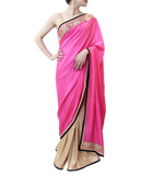 HOT PINK AND GOLD SAREE