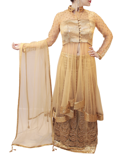 GOLD BRIDAL LACHA STYLE