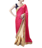 PINK AND GOLD SAREE