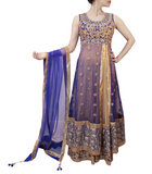 ROYAL BLUE AND GOLD LACHA STYLE