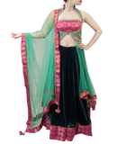 TEAL, PINK AND GOLD LACHA STYLE