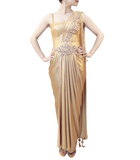GOLD SAREE GOWN