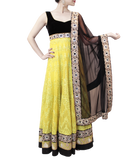 LIME GREEN AND BLACK ANARKALI