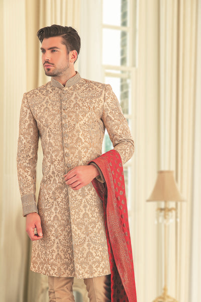 Men's Champagne colored sherwani