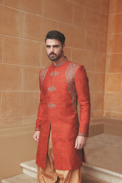 Men's Rust Sherwani