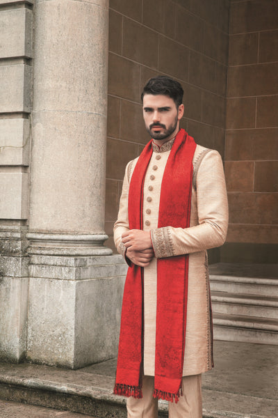 Men's Cream Sherwani