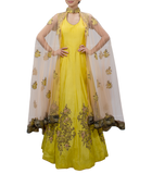 Yellow Cape Gown