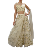 Ivory Flower Patch Lehenga