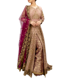 Stunning Plum and Rose Gold Bridal Lehenga