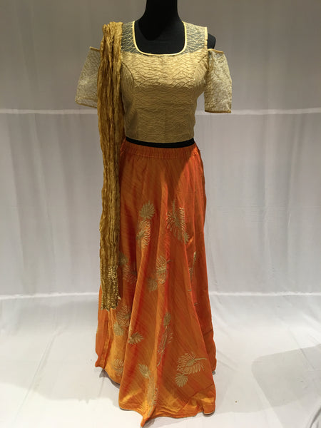 Orange Chaniya Choli