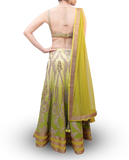 SHADED LIME GREEN LEHENGA