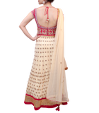 PINK AND CREAM LEHENGA