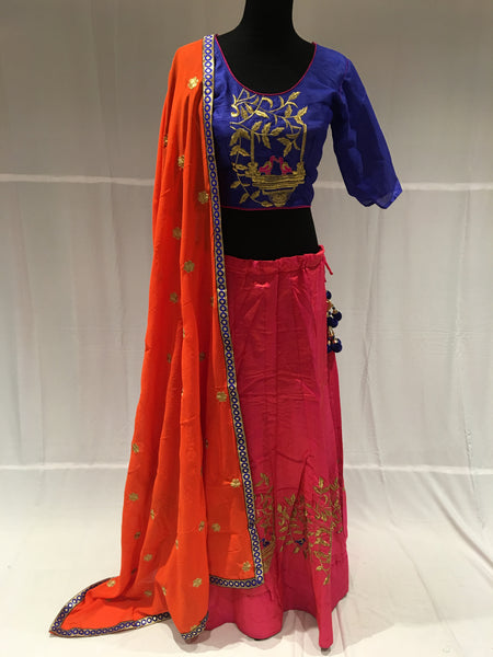 Pink & Blue chaniya choli