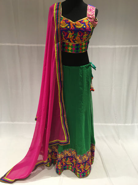 Dandiya pattern chaniya choli