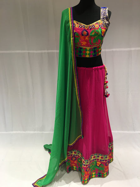 Elephant pattern chaniya choli