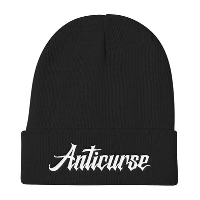 Anticurse Knit Beanie - Black
