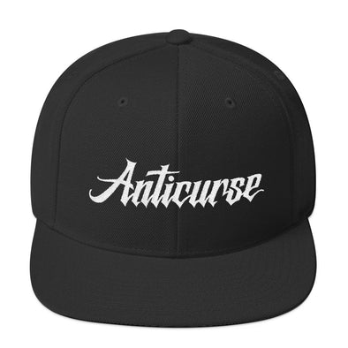 Anticurse Wool Blend Snapback - Black