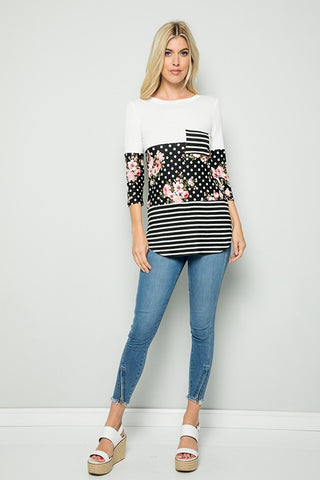 Bella 3/4 Sleeve Top