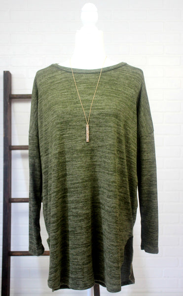 Cozy Olive Tunic Sweater