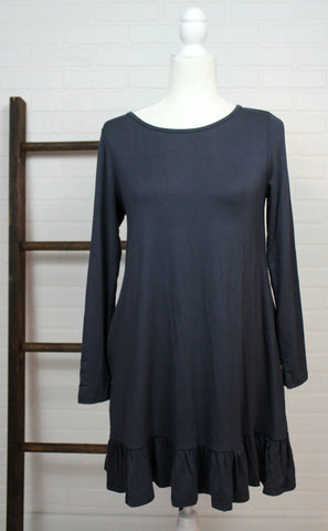Slate Flutter Tunic Dress