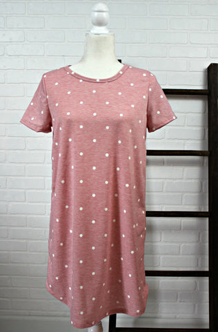 Rose and Dots T-Shirt Dress