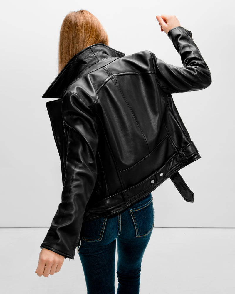 MAR Belted Biker | Black