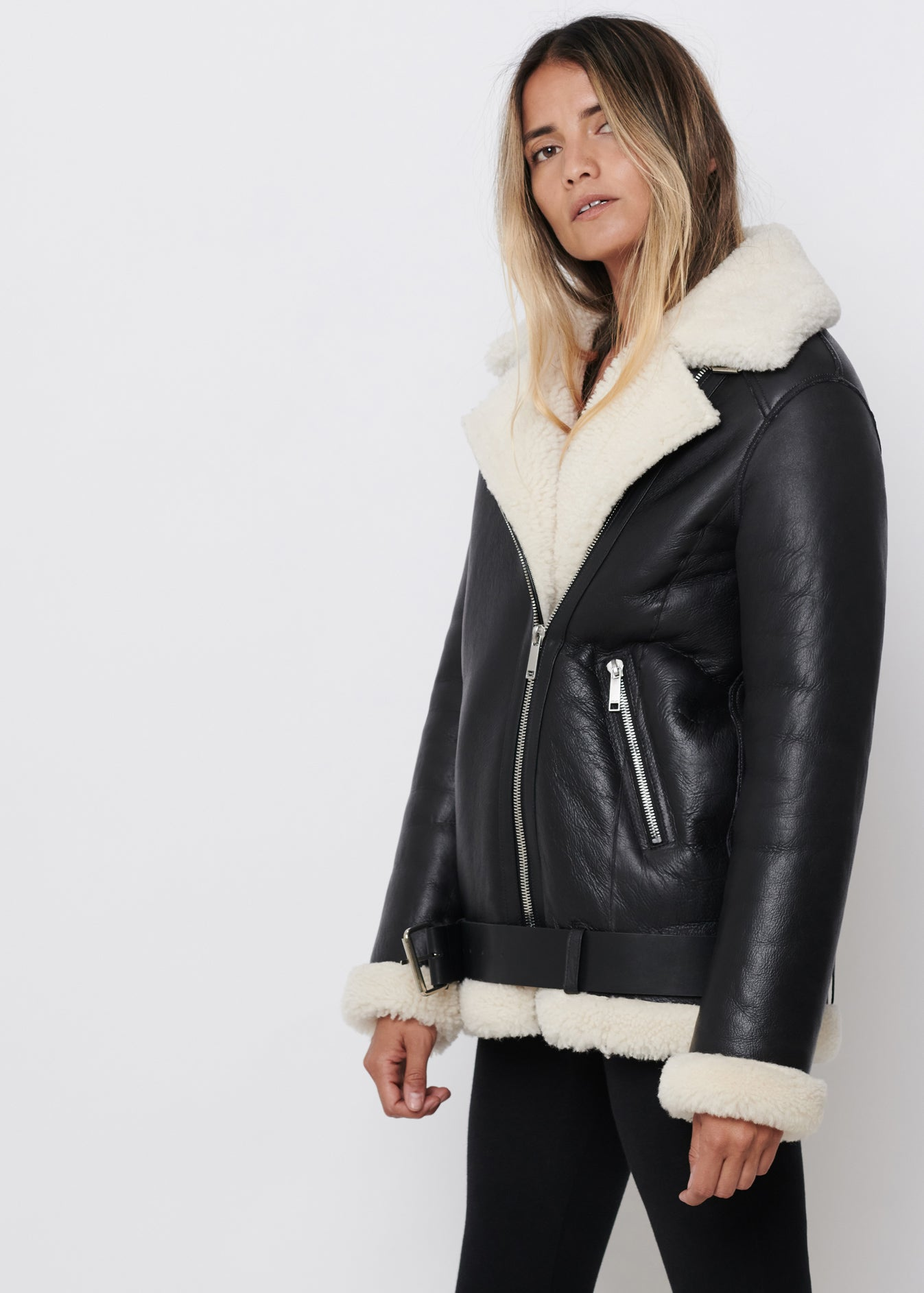 EMA Shearling Jacket | Black