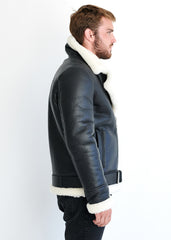 LEO Shearling Jacket | Black