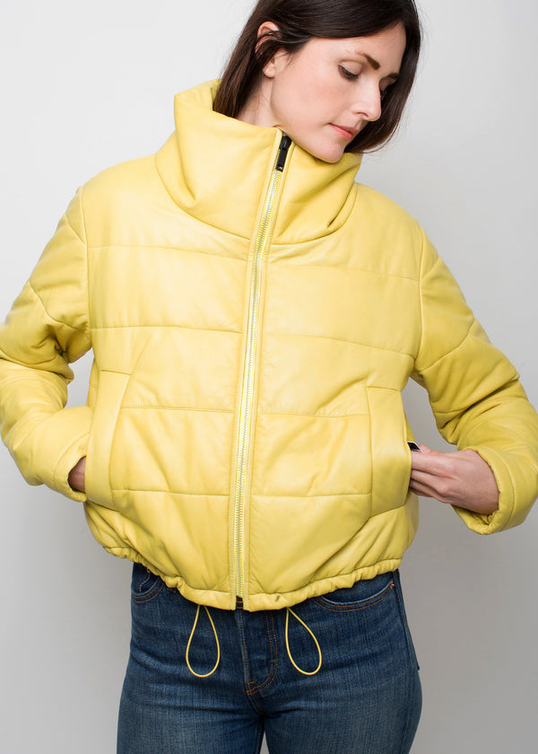 CAY Cropped Puffer | Ceylon Yellow